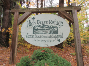 High Braes Sign